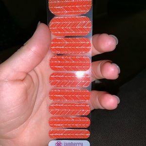 Partial jamberry nail wrap